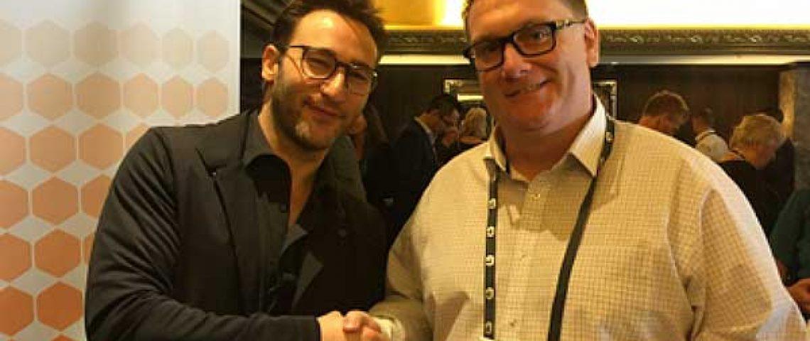 Coachios Steve Worsley meets Simon Sinek
